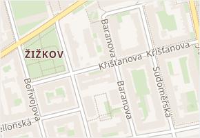 Žižkov v obci Praha - mapa části obce
