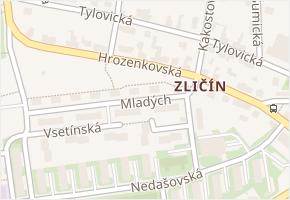 Zličín v obci Praha - mapa části obce