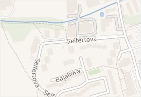 Seifertova v obci Přerov - mapa ulice