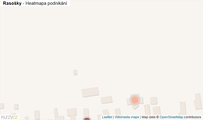 Mapa Rasošky - Firmy v obci.