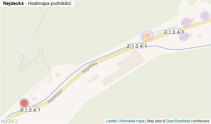 Mapa Nejdecká - Firmy v ulici.