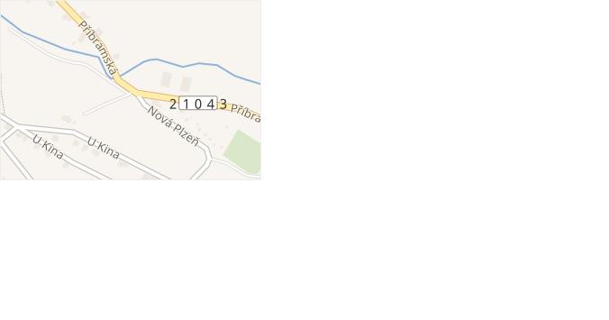Příbramská v obci Rotava - mapa ulice