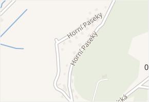 Horní Paseky v obci Rožnov pod Radhoštěm - mapa ulice