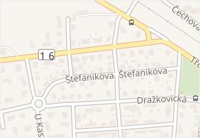 Štefanikova v obci Slaný - mapa ulice