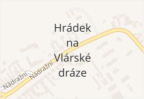 Hrádek na Vlárské dráze v obci Slavičín - mapa části obce