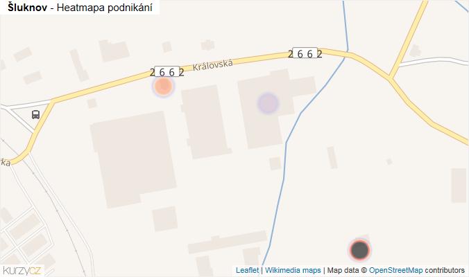 Mapa Šluknov - Firmy v obci.