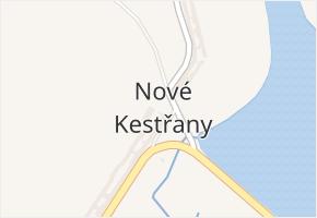 Nové Kestřany v obci Štěkeň - mapa části obce