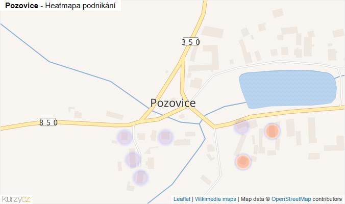 Mapa Pozovice - Firmy v části obce.