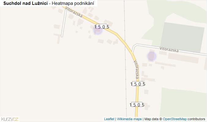Mapa Suchdol nad Lužnicí - Firmy v obci.