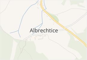 Albrechtice v obci Sušice - mapa části obce