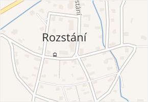 Rozstání v obci Světlá pod Ještědem - mapa části obce