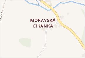 Moravská Cikánka v obci Svratka - mapa části obce