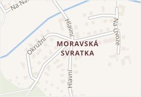 Moravská Svratka v obci Svratka - mapa části obce