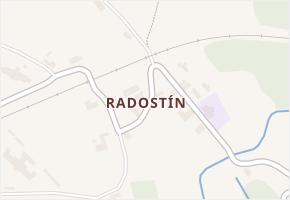 Radostín v obci Sychrov - mapa části obce