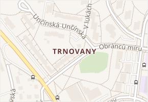 Trnovany v obci Teplice - mapa části obce