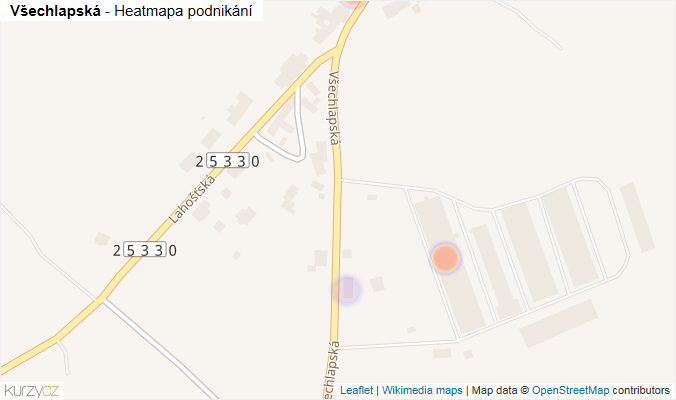 Mapa Všechlapská - Firmy v ulici.