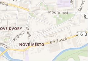 Boženy Němcové v obci Třebíč - mapa ulice