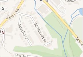 M. Horákové v obci Třebíč - mapa ulice
