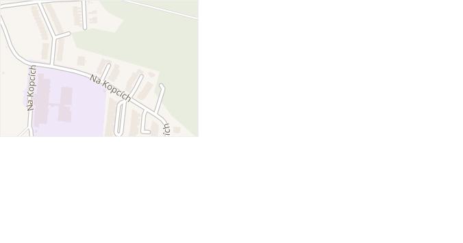 Na Kopcích v obci Třebíč - mapa ulice