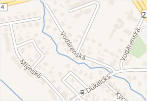 Vodárenská v obci Třeboň - mapa ulice