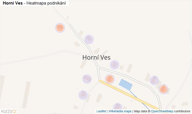 Mapa Horní Ves - Firmy v části obce.