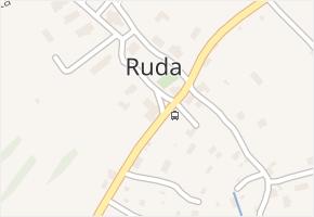 Ruda v obci Tvrdkov - mapa části obce