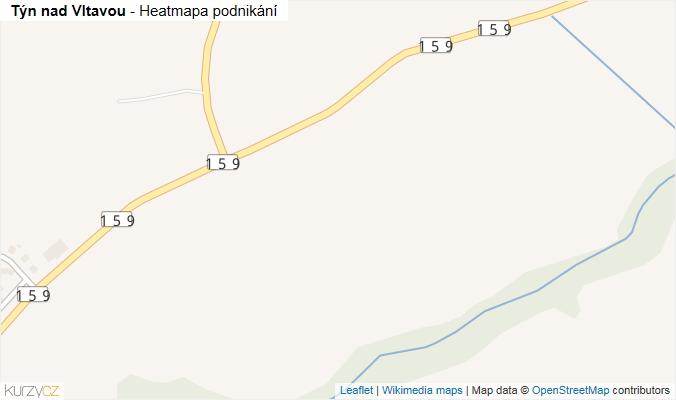 Mapa Týn nad Vltavou - Firmy v obci.