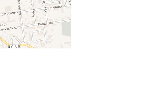 Komenského v obci Unhošť - mapa ulice