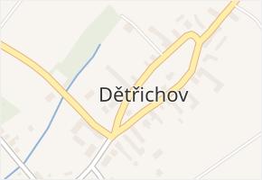 Dětřichov v obci Uničov - mapa části obce