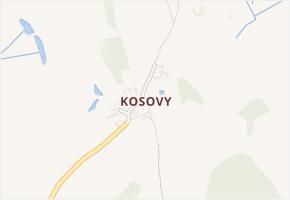 Kosovy v obci Úsobí - mapa části obce