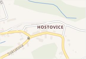 Hostovice v obci Ústí nad Labem - mapa části obce