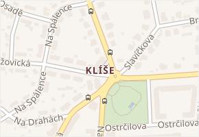 Klíše v obci Ústí nad Labem - mapa části obce
