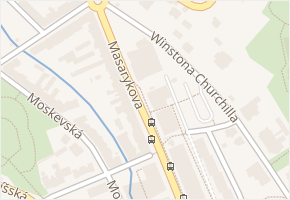 Masarykova v obci Ústí nad Labem - mapa ulice