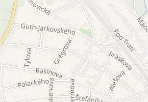Vrchlického v obci Úvaly - mapa ulice