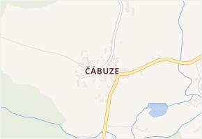 Čábuze v obci Vacov - mapa části obce