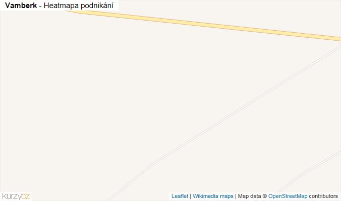 Mapa Vamberk - Firmy v obci.