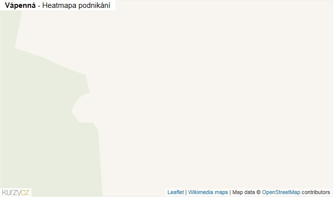 Mapa Vápenná - Firmy v obci.