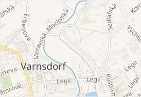 Štefánikova v obci Varnsdorf - mapa ulice