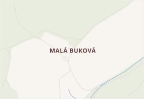 Malá Buková v obci Velká Buková - mapa části obce