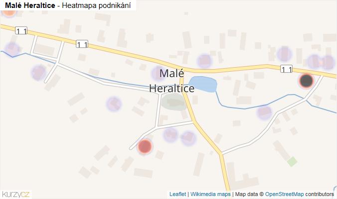 Mapa Malé Heraltice - Firmy v části obce.