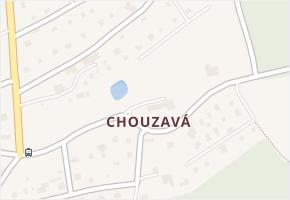 Chouzavá v obci Voznice - mapa části obce