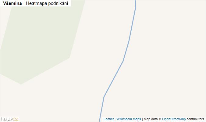 Mapa Všemina - Firmy v obci.