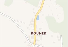 Rounek v obci Vyskytná nad Jihlavou - mapa části obce