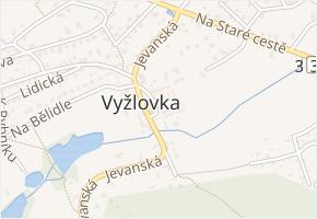 Na Návsi v obci Vyžlovka - mapa ulice