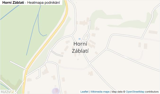 Mapa Horní Záblatí - Firmy v části obce.