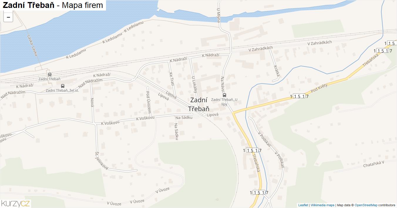 Zadní Třebaň - mapa firem