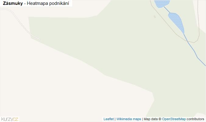 Mapa Zásmuky - Firmy v obci.