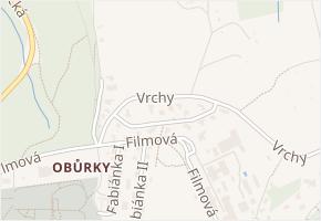 Fabiánka III v obci Zlín - mapa ulice