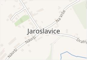 Jaroslavice v obci Zlín - mapa části obce