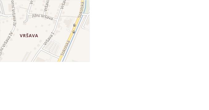 Jižní Vršava v obci Zlín - mapa ulice